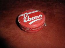 Piccola scatola di latta crema per scarpe EBANO - color ROSSO - anni 60 70