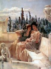 Old Masters Vintage Print, Whispering Noon by Tadema