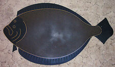 Long Island Doormat: 2nds Small BLACK Fluke Halibut, Summer Flounder New Quality