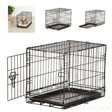 Single Door Dog Crate Chain Link Dog Kennel Outdoor Pet Small Metal 22in In Cage