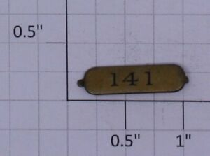 Ives 141-1 #141 Parlor Car Brass Numberplate