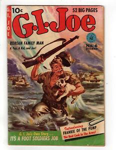 G.I. JOE #6 (1951) - GRADE 6.0 - ZIFF DAVIS VOLUME 2 GOLDEN AGE COMIC!