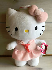 A4 Sanrio Hello Kitty Pink Sailor Dress Plush! W/ Tag 12 Inch Lovey Stuffed Toy