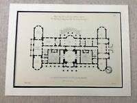 1931 Antique Architectural Print Luton Hoo Robert Adam Neoclassical Architecture