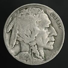 1925-S Buffalo Nickel Nice Solid Fine + With Full Date! GC567