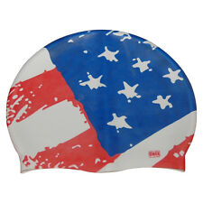 CHEX 100% Silicone USA Adult Swimming Swim Hat United States Of America Dsn 1