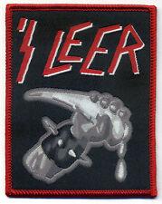 'S LEER  Woven Patch  gewebter Aufnäher  Slayer  Parodie  Fun  Thrash Metal