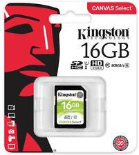 16gb SD KINGSTON TARJETA DE MEMORIA PARA Canon PowerShot G12 EOS 500d S5