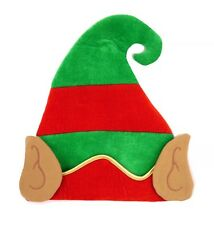 ELF HAT WITH EARS CHRISTMAS SANTA'S LITTLE HELPER XMAS  FANCY DRESS ACCESSORY