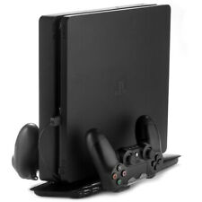 Dual Controller Charging Dock for PS4 Slim Wireless Stand Fan PlayStation Black