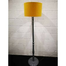 Vintage retro floor lamp in mustard yellow and grey