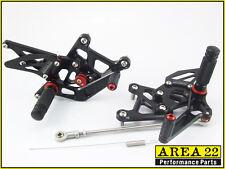 2011-2014 Honda CBR250R Area 22 CNC Adjustable Rear Sets Footpeg Black Rearsets