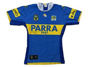 "Parramatta Eels Australian Rugby Jersey 46"" Krisome Auva Signed"