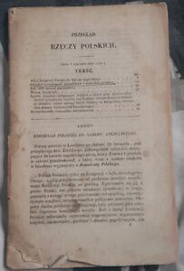 1863   PRZEGLAD RZECZY POLSKICH   Emigracja Polska we Francji