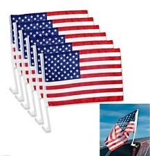 "6pcs USA AMERICAN FLAG Car Truck Window Clip 19""x11"" America Great Flag"