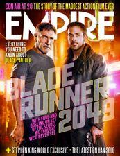 UK Empire Magazine August 2017 Blade Runner 2049 Harrison Ford Ryan Gosling F/S