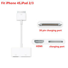 Genuine Digital AV HDTV Adapter for iPad 2/3 iPhone 4/4s 30 Pin to HDMI