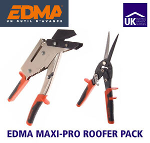 Edma Maxi Pro Roofer Pack - Professional Slate Cutter with Punch & Aviation Snip