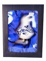 Porcelain Lamp Candle Oil And Elegant Blue Artwork Night Light