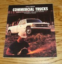 Original 1994 Chevrolet Commercial Truck Sales Brochure 94 Chevy Pickup Van