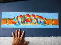 Ancienne Plaque Lexan Unigame Ancien Flipper Jeu Vidéo Borne Arcade Salle Déco
