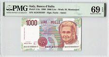 Italy 1990 P-114c PMG Superb Gem UNC 69 EPQ 1000 Lire