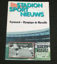 FOOTBALL PROGRAMME FEYENNORD V OLYMPIQUE MARSEILLE OM CHAMPIONS LEAGUE 1999