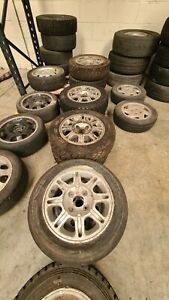 """Peugeot 205 GTI rally 4 x 14"""" 205/106 alloys with forest tyres ecsta/Kumho"""