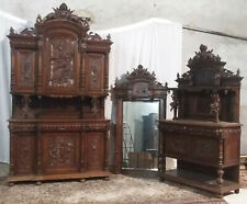 Superbe salle à manger style Renaissance 2 buffets + miroir