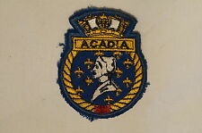 Canadian Navy RCN HMCS Acadia Crest Patch