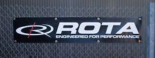 Official Rota Wheels Banner Car Gift Present  Dad Garage Man Cave Shed Workshop