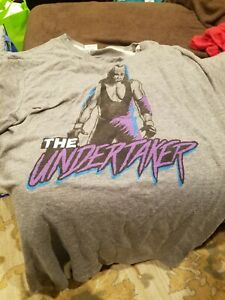 WWE The Undertaker Homage Brand T Shirt XXL 2XL Grey wrestling wwf