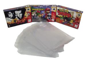 N64 Nintendo 64 Box Clear Sleeve Protector Covers Dropdown Menu