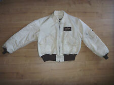 Alpha Industries Bomberjacke L Bomber Jacket off white Creme Weiß / Braun gay oi
