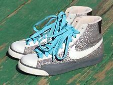 Nike Swoosh Womens Sz 9 Hightops Gray 317808-011 2008 Model EU 40.5