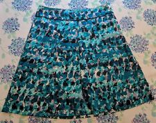 Ann Taylor Womens Sz 6 A Line Abstract Skirt Lined Blue Teal White