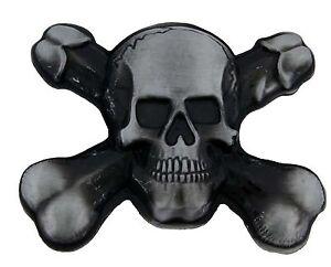 Skull Belt Buckle Pirate Cross Bones Antiqued Halloween Costume Fashion Unisex