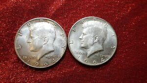 2×1964 Kennedy Half Dollars