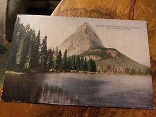 Glacier National Park Postcard Grisnell Mountain & Lake McDermott