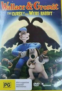 Wallace And Gromit - The Curse Of The Were-Rabbit DVD (Pal, 2006) vgc t6