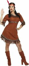 Adult Female Red Indian Native American Fancy Dress Costume