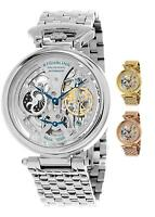 Stuhrling Men's Special Reserve 797 Automatic Wind Skeleton Dual Time ampm Watch