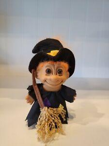 "Vintage Halloween Witch Troll Doll by Russ Orange Hair 6"""