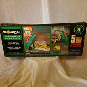 "2002 Sunstopper Sun Shelter Beach / Backyard UV Protection NIB 84"" x 48"" x 50"""