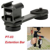 PT-3 Microphone Extension Bar 3 Cold Shoe Mounts Bracket for Canon DSLR Zhiyun
