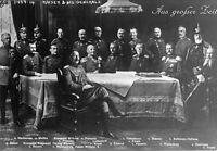 New 8x11 World War I Photo: Kaiser Wilhelm II and Generals, Bulow, Hindenberg