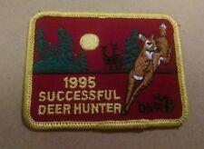1995 Michigan DNR successful deer hunting patch 3.25x2.75