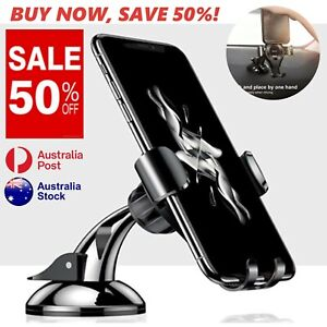 Baseus Gravity Phone Holder Car Mount Dashboard Suction Stand AU Stock