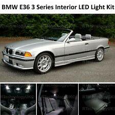 PREMIUM BMW E36 3 SERIES CONVERTIBLE FULL LED Light UPGRADE WHITE Interior KIT