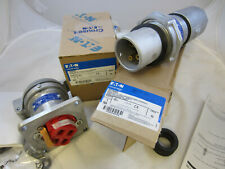 COMPLETE SET CROUSE HINDS 60 AMP 3W 4P  PLUG APJ6485 & AR642 RECEPTACLE BOTH PCS